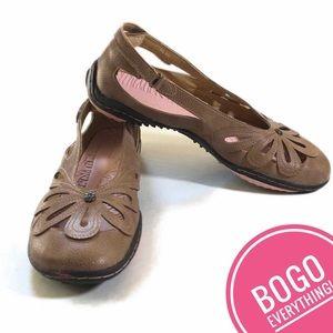 JBU by Jambu Juniper Brown Ballet Flats 9